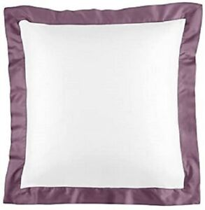 Ralph Lauren Langdon Euro Pillow Sham Duchesse Lavender Border 524TC MSRP $145