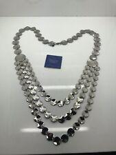 OVC Simona Collini Stainless Steel Multi Strand Necklace