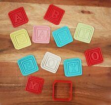 SUPER CUTE Baby Shower Mini Cookie / Fondant Cutter Set - Baby Blocks - Baby Boy