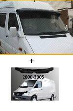 MERCEDES SPRINTER   Sun Visor and Bug Guard Solid Black Acrylic 2000-2005