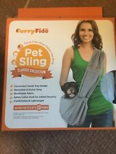 Furry Fido Gray Classic Pet Sling/Dog Carrier Up to 13 Pounds Cats & Dogs - New