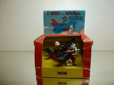POLISTIL W7 WALT DISNEY DONALD DUCK IN PLANE - PAPERINO - RARE- VERY GOOD IN BOX
