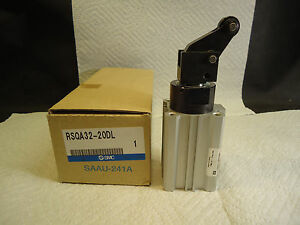 NEW SMC RSQA32-20DL FIXED MOUNTING HEIGHT PNEUMATIC STOPPER CYLINDER