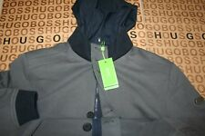 NEW HUGO BOSS BLUE GREY REVERSIBLE WINTER WARM HOODED COAT JACKET LARGE rrp £399