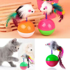 Cat Kitten Interactive Scratching Tumbler Ball Toy with Feather Fun Pet Game