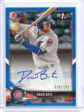 2018 Bowman Baseball - DAVID BOTE, 78/150 BLUE ROOKIE AUTO Card #PA-DB, Cubs!