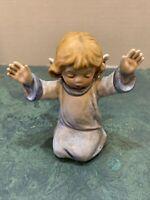 Vintage Goebel Kneeling Praise Angel Frobek 46 011 12 1980 Or 86 *Germany *Rare