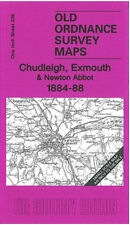 OLD ORDNANCE SURVEY MAP CHUDLEIGH, DAWLISH, EXMOUTH & NEWTON ABBOT 1884 - 1888