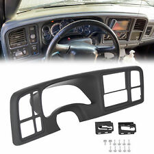 Double DIN Truck Dash Kit For 1999-2002 Silverado Sierra + Full-Size Black ABS