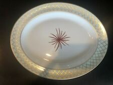 "Bernardaud Etoile Celadon 13"" Oval Platter"