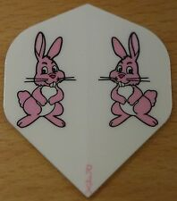 "1 Set (1X3) ""Pink Bunnies"" R4X Ruthless Extra Strong Dart Flights"