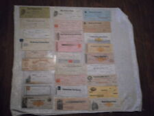 Lot of 26 Antique Bank Checks plus 1 Unused Pacific Bank Check from 1870's