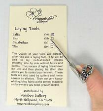 Celtic Trolley Needle Laying Tool Stiletto Needlepoint Thread, Smocking, Sequins
