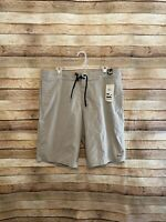 Billabong Mens Lo Tides Daily Stretch Hybrid Board Shorts Beige Size 36 NWT New