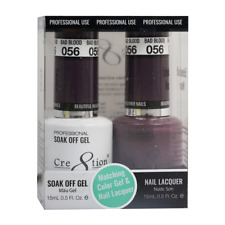 CRE8TION MATCHING COLOR GEL & NAIL LACQUER SET - 056 Bad Blood