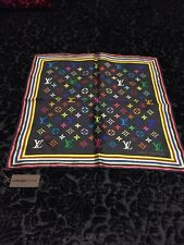 Louis Vuitton Takashi Murakami Black Silk Eye Love You Scarf NWT NIB