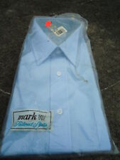 Vintage Mark VII Blue Tailored Long Sleeve Shirt Size 16/34-35 New In Package