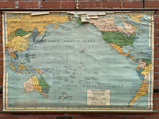 A.J. Nystrom, Pacific Ocean and Adjacent Countries Vintage School Wall Map