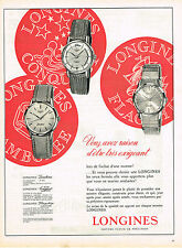 PUBLICITE ADVERTISING  1960   LONGINES  montres