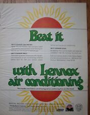 1969 Beat It with LENNOX AIR CONDITIONING Ad