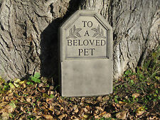 Pet memorial stone garden ornament