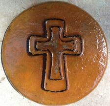 Cross 4, plaque, stepping stone,  plastic mold, concrete mold, cement, plaster