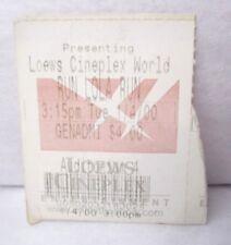 Vintage Run Lola Run Movie Ticket Stub 1.4.00 Loews Cineplex Nyc Franka Potente