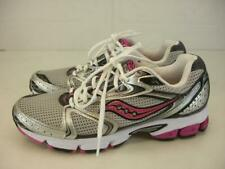 Womens sz 9.5 M Saucony Grid Stratos 5 Running Shoes Silver Black Pink Cushioned