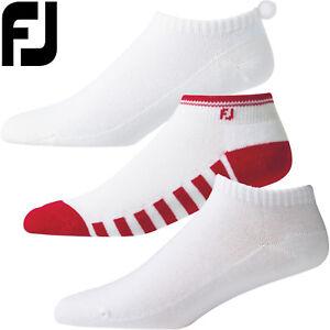 FootJoy Ladies ProDry Golf Lightweight Sportlet Pom Pom Socks