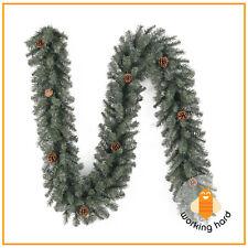 CHRISTMAS PINE GARLAND 9 Ft Scottsdale Artificial Xmas Holiday Tree Door Decor