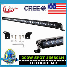 """Slim 41inch 200W Led Light Bar Single Row Driving Truck Offroad 4D Lens Ford 40"""""""