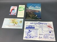 Vintage 1949 Souvenir Guide To Catalina Island CA Book Tour Map Post card 5 pcs