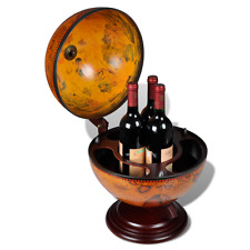 Antique Replica Tabletop Bar Wooden Globe Embowed Wine Liquor Wood Table Stand