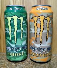 RARE! Monster Energy M-100 GHOST & PHANTOM - 1 Each FULL 16 oz Cans!