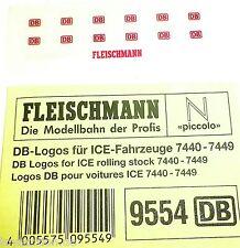 DB Loghi per ICE e altre Treni Fleischmann 9554 NUOVO 1:160 Scala N HR1 µ √