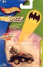Batman BATMOBILE - SPEED DEMONS Motorized PULL BACK CAR Hot Wheels