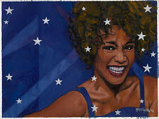 "Tribute: Whitney Houston! Original Published 4/c Cover Art!  20 1/4"" x 15 1/4"""