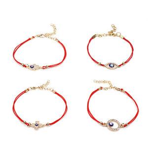 NEW 2018 Red Rope Good Luck Charm Kabbalah Jewelry Bracelet Lucky Women Evil Eye