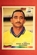 PANINI WC WM FRANCE 98 1998 N. 452 COLOMBIA GALEANO WITH BLACK BACK MINT!!