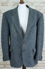 KNIGHT & ASPREY Harris Tweed Blue 2 Button Blazer Sports Coat size 44R 112Cm