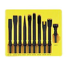 """Grey Pneumatic 10pc Air Hammer Chisel/ Cutter/ Hammer Bit Set .401"""" Shank #CS110"""