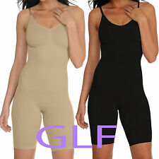 UK Women Full Body Shaper Underbust Tummy Control Slimming BodySuit Shapewear