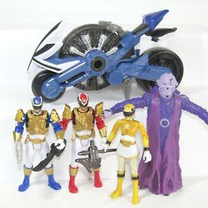 4 x Power Rangers Bundle Megaforce Ultra Red, Blue, Yellow Ranger and Ivan Ooze