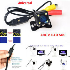 Mini 4LED Car SUV Backup Camera Rear View NTSC/PAL Guide Line One Button Control