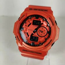 Casio G-Shock GShock GA-150A-4A GA150A Orange Digital Men's Watch 5255 EXCELLENT