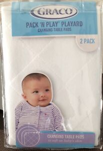 Graco Pack 'N Play Playard Changing Table Pads in White 2-pack
