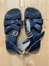 Salt Water Sandals by Hoyway Kids Navy Sz 11 pre owned