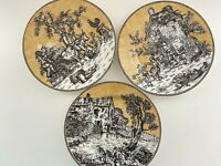 American Atelier At Home English Toile Black 5239  3 Salad Plates