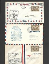 CANADA, 10 FIRST FLIGHT COVERS, LATE 1920'S-EARLY 1930'S, ALL DIFFERENT CACHETED