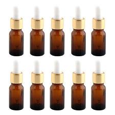 10ea Amber Glass Reagent Liquid Pipette Bottle Eye Dropper Drop Aromatherapy